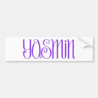 Yasmin purple Bumper Sticker