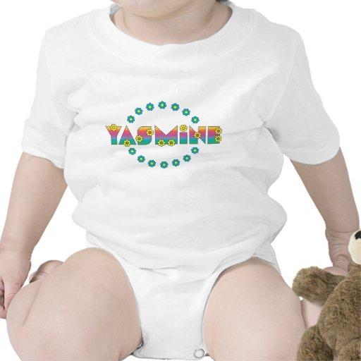 Yasmina en el arco iris de Flores Traje De Bebé