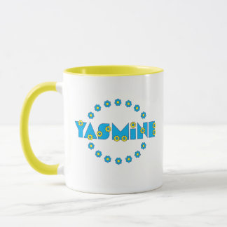 Yasmine in Flores Blue Mug