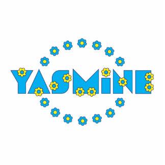 Yasmine in Flores Blue Photo Cutout