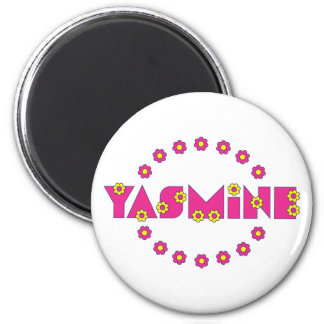 Yasmine in Flores Pink Magnets