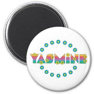Yasmine in Flores Rainbow Fridge Magnets