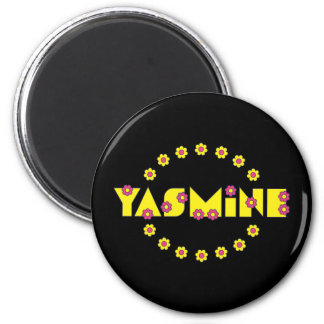 Yasmine in Flores Yellow Magnet