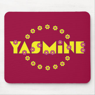 Yasmine in Flores Yellow Mouse Pad