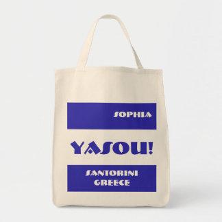 Yasou Greek Blessing Tote Bag
