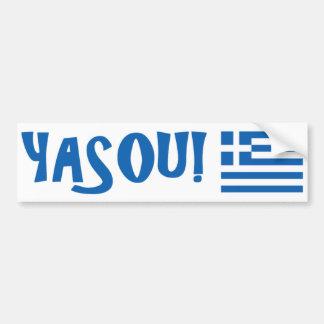 ¡YASOU! Pegatina para el parachoques griega de la  Pegatina Para Auto