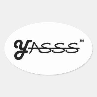 YASSS Oval Stickers, Glossy Oval Sticker