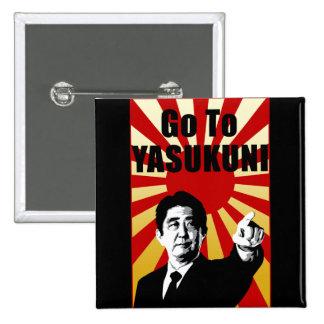 Yasukuni Abe Pinback Button