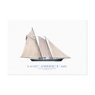 """yate """"América 1851"""" de la taza de Américas, Impresión En Lona Estirada"""