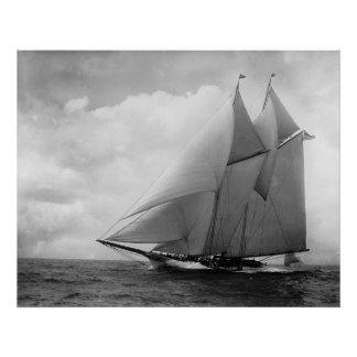 Yate América c1910 Póster