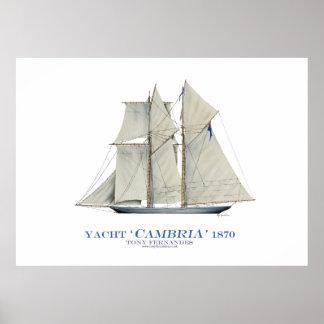 "yate ""cambria"" 1870, fernandes tony de la taza de posters"