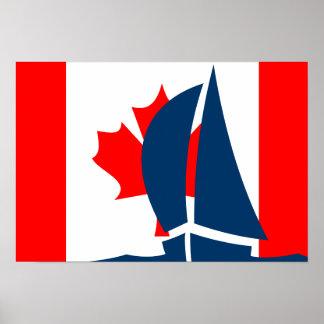 Yate canadiense Canadá de la navegación de la band Posters