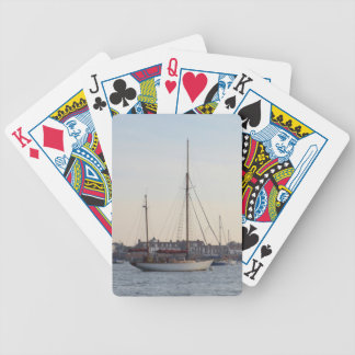 Yate clásico amarrado en TheCrouch Baraja Cartas De Poker