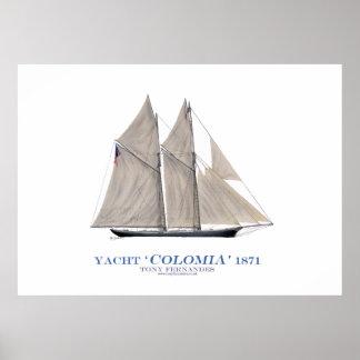 """yate """"Colombia"""" 1871, fernandes tony de la taza de Impresiones"""