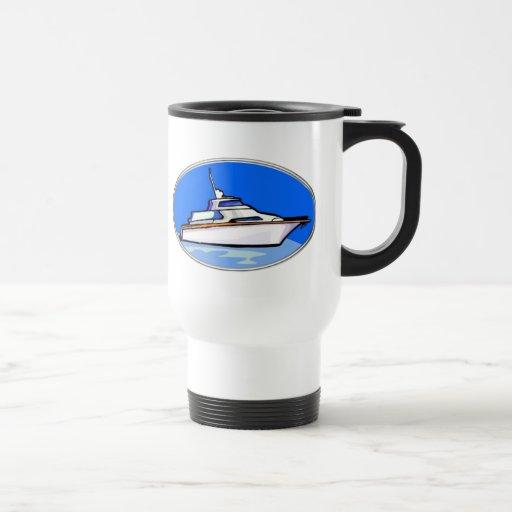 Yate en óvalo taza de café