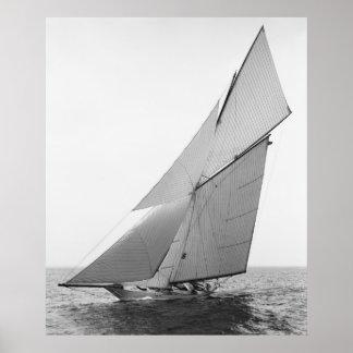 Yate Gloriana, 1891 de la navegación Póster