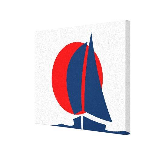 Yate japonés Japón náutico de la navegación de la  Lona Estirada Galerías