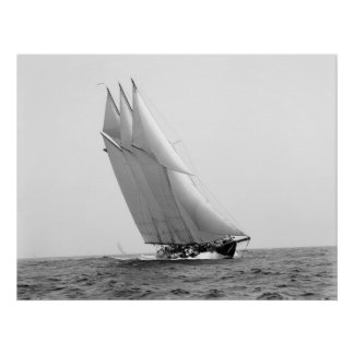 Yate que compite con Atlántico: 1904 Póster