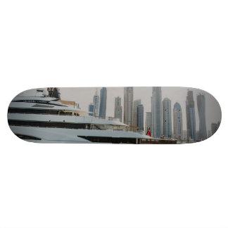Yate y rascacielos de Dubai Patín Personalizado