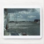 Yates en los canales holandeses tapetes de ratones