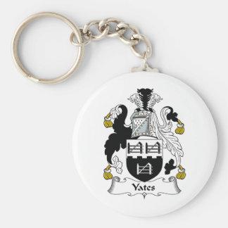 Yates Family Crest Keychain