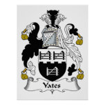 Yates Family Crest Posters