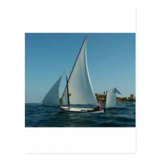 Yawl Rigged Sailboat Postcard
