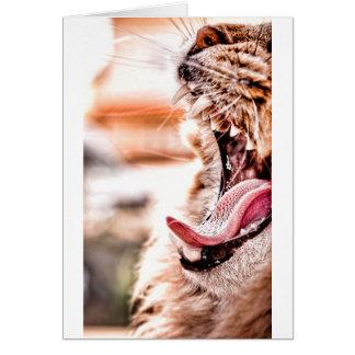 Yawn Card