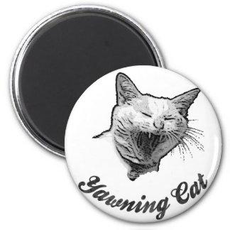 < Yawn cat > Yawning cat Magnet