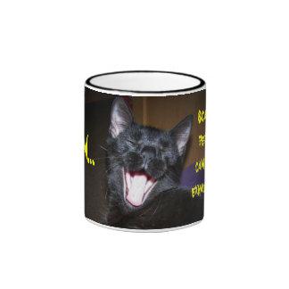 Yawn...Happy Halloween! Ringer Coffee Mug