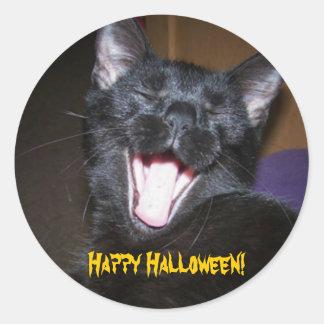Yawn Happy Halloween Stickers