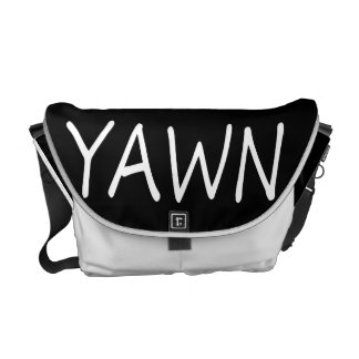 Yawn Humor Courier Bag