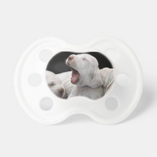 Yawn; Sleepy Puppies Baby Pacifiers