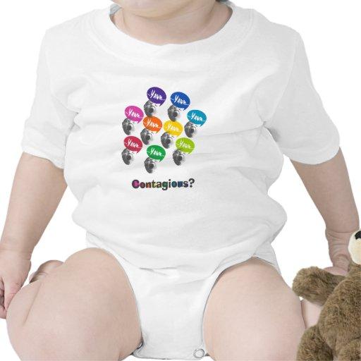 Yawning Babies Graphic Art T-shirts