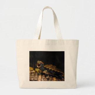 Yawning Baby Turtle Tote Bag
