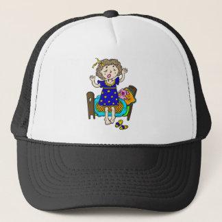 Yawning Bedtime Girl Trucker Hat