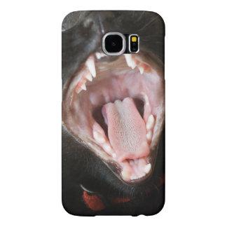 Yawning Black Cat Samsung Galaxy S6 Case