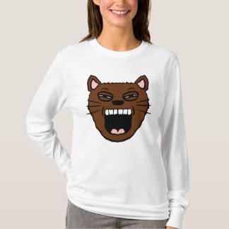Yawning Cartoon cat Shirt