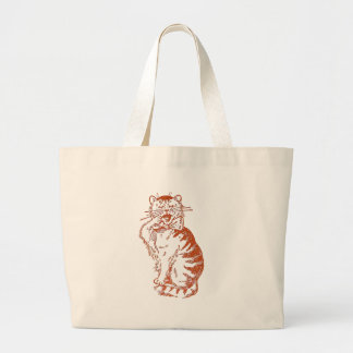 Yawning Cat Tote Bags