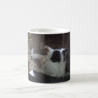 Yawning cat...Is it coffee time yet? Coffee Mug