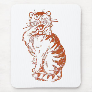 Yawning Cat Mouse Pad