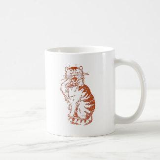 Yawning Cat Mugs