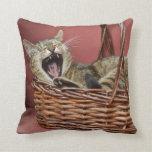 Yawning Cat Pillow