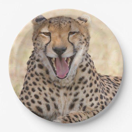 Yawning Cheetah Paper Plate