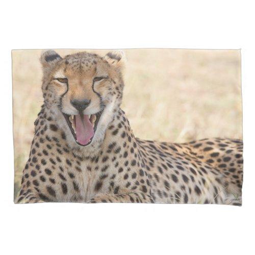 Yawning Cheetah Pillow Case