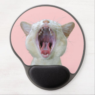 Yawning cute cat gel mouse pad