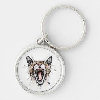 Yawning Kitty Keychain