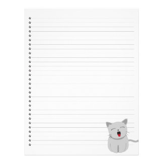 Yawning Kitty Lined Letterhead