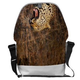 Yawning Leopard bag! Messenger Bags