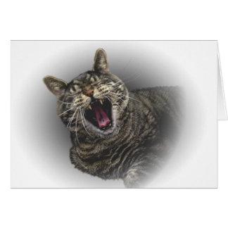 yawning Pepe the cat Card